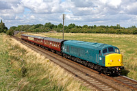 45041 'Royal Tank Regiment' at Woodthorpe on 31.8.14 with 1445 Loughborough - Leicester North service  at the GCR Diesel Gala Aug 2014