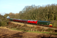 D123 tnt GNR N2 1744 at Kinchley Lane on 16.12.12 with 1230 Loughborough - Leicester North GCR Santa Special service