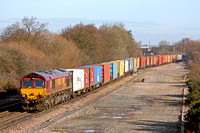 66132 at Stenson Junction on 28.1.10 with 4M74, 0507, Ipswich Griffin Wharf - Birch Coppice via Nottinghmam  Intermodal