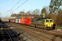 66505 at Cathiron near Rugby on 30.11.11 with 4L93  1008 Lawley Street - Felixstowe  Freightliner