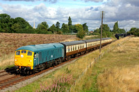 5081 (24081) from Glos & Warks with its first ever visit to the GCR makes its inaugural passenger run at Woodthorpe 4.9.15 with 1000 Loughborough - Leicester North service at the GCR Autumn Diesel
