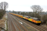 47727 & 47749 at Normanton on Soar heading towards Loughborough on 27.3.13 with 6Z56 1300 Toton North Yard - Eastleigh loaded Network Rail IOA wagons