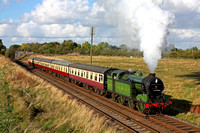 GNR N2 1744 is seen at Woodthorpe on 4.10.14 with 1600 Loughborough - Leicester North service  at the GCR Autumn Steam Gala 2 - 5 October 2014