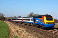 EMT HST 43073 & 43081 at Thurmaston near Leicester on 7.3.11 with 1428 Nottingham - London St Pancras International service
