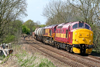 37670'St Blazey' with 66122 (DIT) at Chellaston heading towards Castle Donington on 22.4.09 with 6D44 1227 Bescot - Toton  depoartmental working