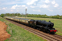 LMS 8F No 48624 passes Woodthorpe on 8.5.16 with 1415 Loughborough - Leicester North GCR service