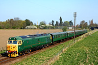 50007 'Sir Edward Elgar' at Woodthorpe on 18.4.10 with 0945 Loughborough - Leicester North service at the GCR  Spring Diesel Gala April 2010