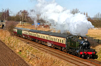GWR Large Prairie tank No 4141 at Woodthorpe on 17.1.10 with 1415 Loughborough - Leicester North GCR service