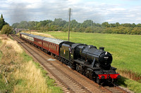 LMS 8F No 48624 is passing Woodthorpe on 27.8.17 with 1520 Loughborough - Leicesgter North  GCR Bank Holiday service