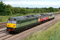 50044, 47765 and 56097 in convoy at Cossington heading towards Humberstone Road, Leicester to run round on 29.6.10 with 0Z50 Ruddington - Barrow Hill to collect further locos to continue to East Lancs