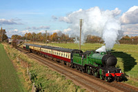 246 'Morayshire' at Woodthorpe on 6.11.10 with 1315 Loughborough - Leicester North 'The Elizabethan' dining service