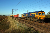 GBRf 66745 at Frinkley Lane, Marston near Grantham on 4.11.13 with 4L78  1200 Selby - Felixstowe North Intermodal