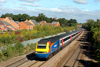 EMT HST 43066 & 43055 at Thurmaston, MML heading towards Leicester on 26.9.14 with 1032 Nottingham - St Pancras International service