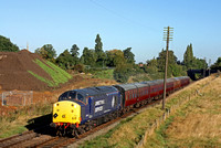 37714 still carrying its DRS branding now on one side only passes Woodthorpe on 2.10.16 with 0930 Loughborough - Leicester North GCR service on a beautiful sunny morning