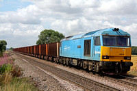 60074 at Elsham Carrs crossing on 12.8.10 with 6K24 Santon - Immingham trip working of empty iron ore wagons