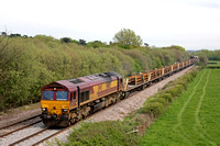 66183 at Barrow Upon Trent near Castle Donington on 2.5.12 with 6K50 1502 Toton - Crewe Basford Hall departmental train