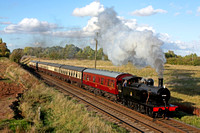 LMS Class 3F Jinty 0-6-0T No.47406 passes Woodthorpe on 16.10.16 with 1545 Loughborough - Leicester North GCR service