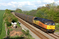 47739'Robin of Templecombe' at Saxondale near Bingham on 08.5.12 with 6M08 1720 Boston Docks - Washwood Heath Met Cam loaded steel carriers