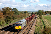 60099 in new TaTa livery at Melton Ross on 20.10.10 with 6T25 1329 Immingham- Santon loaded iron ore wagons