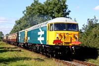 56086 & 73114 at Congerstone on 20.9.09 with 1200 Shackerstone - Shenton service at the Battlefield Line Diesel Gala Sept 2009