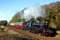 BR Standard Class 2 No 78019 at Kinchley Lane on 10.11.13 with 1415 Loughborough - Leicester North GCR service in lovely autumn light