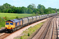 66707 on hire to Fastline at Hathern Old Station, MML on 29.5.09 with 6A63 1544 Daw Mill Colliery - Ratcliffe Power Station loaded coal hoppers