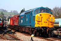 37324 Clydebridge  departs Winchcombe on 1.4.07 with a demo freight for Toddington  at the Gloucester and Warks Diesel Gala April 2007