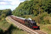 Immaculate BR Standard Class 2MT 2-6-0 No.78018 working on its first public day since overhaul passes Kinchley Lane  on 6.10.16 with 1345 Loughborough - Leicester North service at GCR Autumn Steam Gal