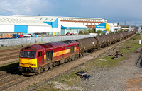60071'Ribblehead Viaduct' at Loughborough on 21.4.12 with 6E38  1315 SO Colnbrook - Lindsey Oil Refinery empty bogie tanks
