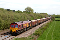 66070 at Barrow Upon Trent near Castle Donington on 2.5.12 with 4Z65 Ratcliffe P.S - Daw Mill via Toton Yard  empty coal hoppers
