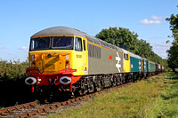 56040, 56086 & 73114 at Congerstone on 20.9.09 with 1500 Shenton - Shackerstone service at the Battlefield Line Diesel Gala Sept 2009