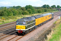 31190 tnt 31106 'Spalding Town' at Cossington, MML heading for Syston East Junction on 13.8.07 with 3Z10 0831 Derby RTC - Old Dalby Test Train