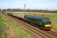 D123 at Woodthorpe near Loughborough on 15.3.14 with 1300 Loughborough - Leicester North GCR diesel service