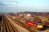 60041 heads out of Toton Centre on 13.12.07 with 6M55  0950 Lindsey Oil Refinery - Rectory Junction loaded bogie oil tanks