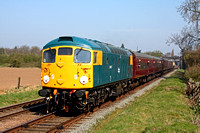26007 at Woodthorpe on 17.4.10 with 0940 Loughborough - Leicester North service at the GCR Spring 2010 Diesel Gala