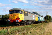 56040, 56086 & 73114 at Congerstone on 20.9.09 with 1630 Shenton - Shackerstone service at the Battlefield Line Diesel Gala Sept 2009