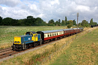 Guest Class 14 'Teddy Bear' No 14901 with D123 at rear at Woodthorpe on 31.8.14 leads 0955 Loughborough - Rothley Brook local service at the GCR Diesel Gala Aug 2014