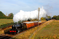 LMS Ivatt Class 2 No 46521 at Woodthorpe on 5.10.14 with 0915  Loughborough - Rothley Brook local service at the GCR Autumn Steam Gala 2 - 5 October 2014