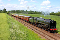 BR Standard Class 7 No 70013 'Oliver Cromwell' at Woodthorpe on 25.5.14 with 1515 Loughborough - Leicester North GCR service