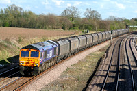 66726 on hire to Fastline at Hathern Old Station, MML on 16.6.09 with 6A63 1544 Daw Mill Colliery - Ratcliffe Power Station loaded coal hoppers