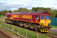 Class 66 loco 66032 at Quorn for testing Oct 2006