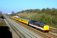 37254 in InterCity Livery with 37219 at rear passes Sileby, MML on 13.2.17 heading towards Syston East Junction with  1Q51 1115 Derby R.T.C.(Network Rail) - Eastleigh Arlington (Zg) test train vai Mel